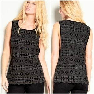 THREADS 4 THOUGHT Crochet Lace Delaney Top sz M-L